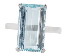 Shades of Sky - Aquamarine Ring