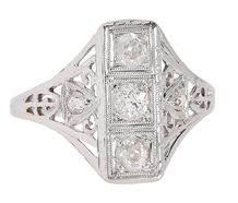 Art Deco Filigree Diamond Ring