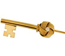 Vintage Algerian Lover's Knot Key Pendant
