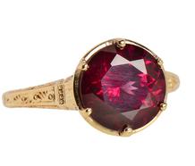 Stunning Rhodolite Garnet Solitaire Ring