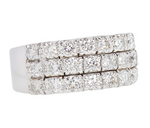 Diamonds Galore - Three Band Diamond Ring