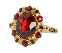 Honoring Tradition - Garnet Cluster Ring