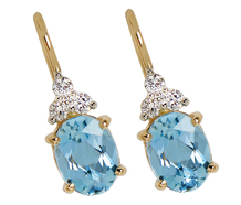 Elegance in Aquamarines & Diamonds Estate Earrings