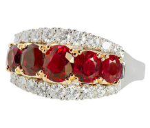 Pigeon's Blood Ruby & Diamond Ring