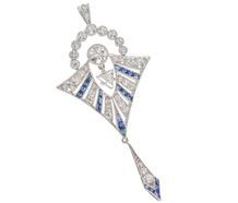 Exquisite Diamond Sapphire Pendant