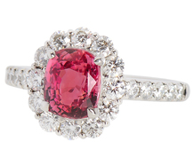 Exquisite Padparadscha Sapphire & Diamond Ring