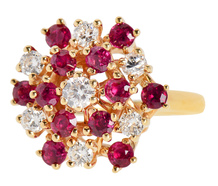Fabulous 1960s Ruby Diamond Dinner Ring