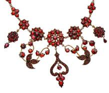 Edwardian Bohemian Garnet Necklace
