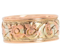 Romance - Rose & Yellow Gold Wedding Band