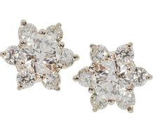 Twinkling Night - Diamond Star Cluster Earrings