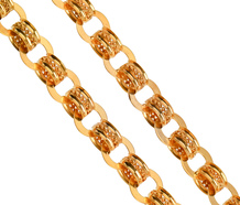 Glittering Decorative Gold Chain Necklace