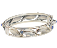 Swedish Modernist Sterling Leaf Bracelet