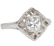 Art Deco Solitaire .70 ct Diamond Ring