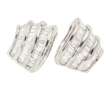 Curvaceous Estate Diamond Set Earrings