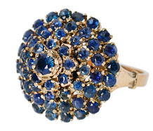 Vaulted Sky - Sapphire Dome Ring