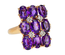 The Shape of Things to Come - Amethyst Ring