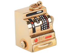 Cash In - Working Gold Cash Register Charm