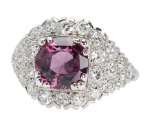 Lavender Purple Spinel Diamond Cascade Ring