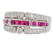 Glittering Oz - Diamond Ruby Band