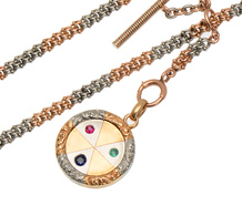 Aristocratic Platinum Rose Gold Necklace Locket