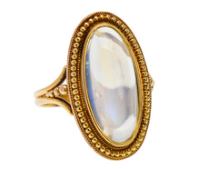 Once in a Blue Moonstone Gold Ring