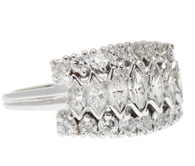 Zig Zag Diamonds in a Vintage Ring