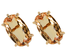 Striking Topaz Stud Earrings