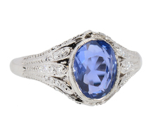 Rivulets of Light - No Heat Sapphire Diamond Ring