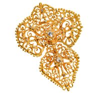 18th C. Georgian Iberian Diamond Brooch