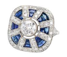 Star Shine - Sapphire Diamond Ring