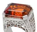 Toast of Madeira Wine - Citrine Diamond Ring