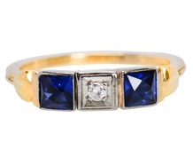 Secret Hearts - Art Deco Gimmel Ring