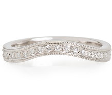Jabel Diamond Curved Wedding Band