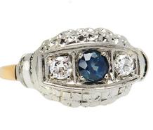 Vintage Diamond & Flower Motif Ring