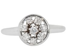 In the Round - Circular Diamond Ring