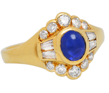 Variation - Sapphire Diamond Halo Ring