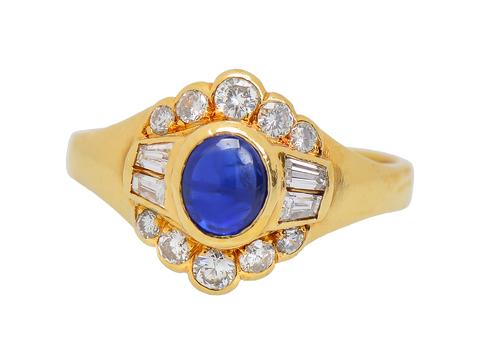 Variation - Sapphire Diamond Halo Ring