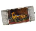 Victorian Art - Bangle Enamel Painting of Pugs