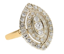 A Vintage Marquise Shaped Diamond Ring