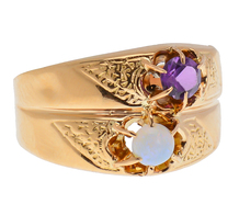 A Kiss for Two - Opal Amethyst Ring