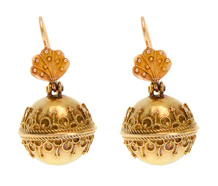 Victorian Antique Gold Drop Earrings
