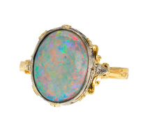 Counterplay - Vintage Opal Two-Color Gold Ring
