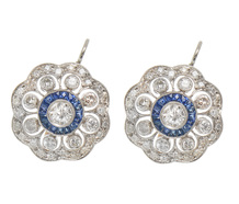 Opulence in Sapphire & Diamond Earrings