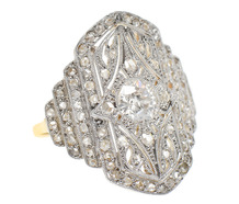 High Life - Diamond Studded Dinner Ring