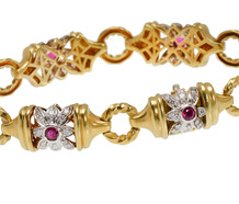 Estate SeidenGang Diamond & Ruby Bracelet