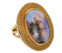 True Dreams - Antique Swiss Enamel Ring