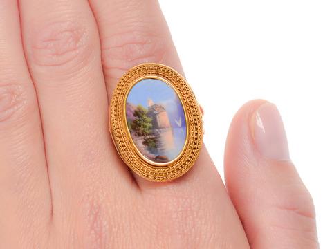 True Dreams - Antique Swiss Enamel Ring