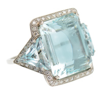 Radiance - Aquamarine Diamond Dinner Ring