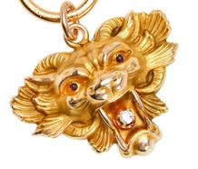 Art Nouveau Diamond Lion Head Pendant