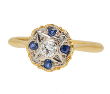 Starry Eyed - Vintage Diamond Sapphire Ring